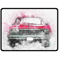 Car Old Car Art Abstract Double Sided Fleece Blanket (large)  by Celenk