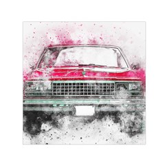 Car Old Car Art Abstract Small Satin Scarf (square)