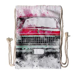 Car Old Car Art Abstract Drawstring Bag (large)