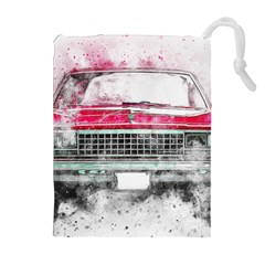 Car Old Car Art Abstract Drawstring Pouches (extra Large)