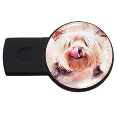 Dog Animal Pet Art Abstract Usb Flash Drive Round (2 Gb)