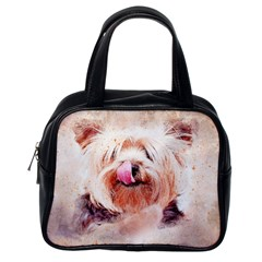 Dog Animal Pet Art Abstract Classic Handbags (one Side)