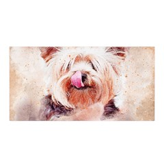Dog Animal Pet Art Abstract Satin Wrap