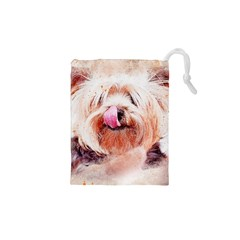 Dog Animal Pet Art Abstract Drawstring Pouches (xs)