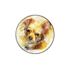 Dog Animal Art Abstract Watercolor Hat Clip Ball Marker (10 Pack)