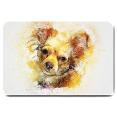 Dog Animal Art Abstract Watercolor Large Doormat