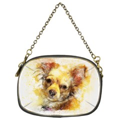 Dog Animal Art Abstract Watercolor Chain Purses (two Sides)