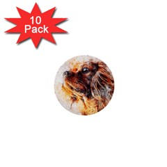 Dog Animal Pet Art Abstract 1  Mini Buttons (10 Pack)  by Celenk