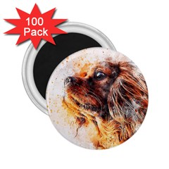 Dog Animal Pet Art Abstract 2 25  Magnets (100 Pack)