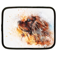 Dog Animal Pet Art Abstract Netbook Case (xl)