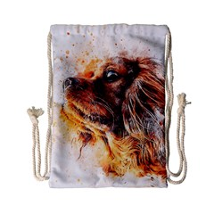 Dog Animal Pet Art Abstract Drawstring Bag (small) by Celenk