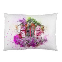Window Flowers Nature Art Abstract Pillow Case (two Sides)