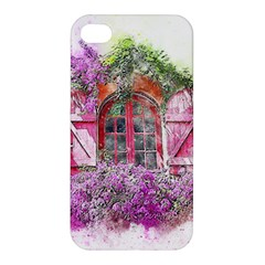 Window Flowers Nature Art Abstract Apple Iphone 4/4s Premium Hardshell Case by Celenk