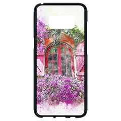 Window Flowers Nature Art Abstract Samsung Galaxy S8 Black Seamless Case
