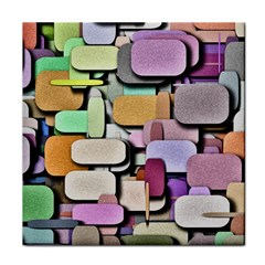 Background Painted Squares Art Tile Coasters