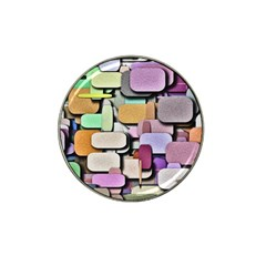 Background Painted Squares Art Hat Clip Ball Marker (4 Pack)