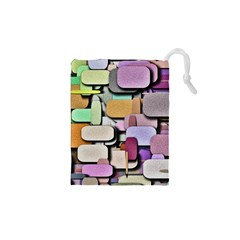 Background Painted Squares Art Drawstring Pouches (xs)  by Celenk