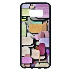 Background Painted Squares Art Samsung Galaxy S8 Plus Black Seamless Case