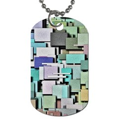 Background Painted Squares Art Dog Tag (two Sides)