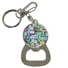 Background Painted Squares Art Button Necklaces