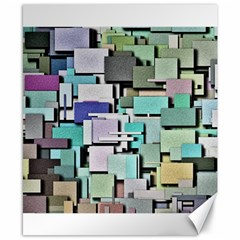 Background Painted Squares Art Canvas 8  X 10  by Celenk
