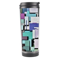 Background Painted Squares Art Travel Tumbler by Celenk