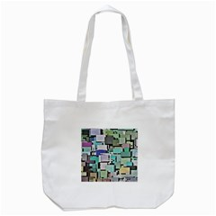 Background Painted Squares Art Tote Bag (white) by Celenk