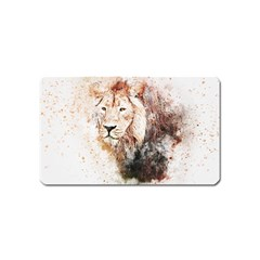 Lion Animal Art Abstract Magnet (name Card)