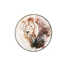 Lion Animal Art Abstract Hat Clip Ball Marker (4 Pack)