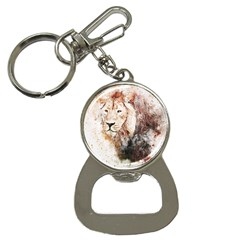 Lion Animal Art Abstract Button Necklaces by Celenk