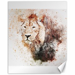 Lion Animal Art Abstract Canvas 11  X 14