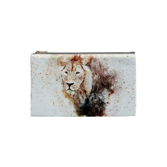 Lion Animal Art Abstract Cosmetic Bag (small)  by Celenk
