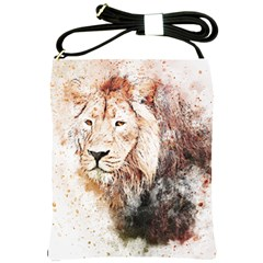 Lion Animal Art Abstract Shoulder Sling Bags by Celenk