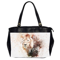 Lion Animal Art Abstract Office Handbags (2 Sides)