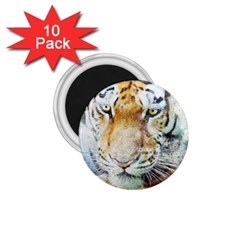 Tiger Animal Art Abstract 1 75  Magnets (10 Pack)  by Celenk