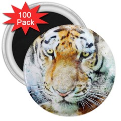 Tiger Animal Art Abstract 3  Magnets (100 Pack) by Celenk