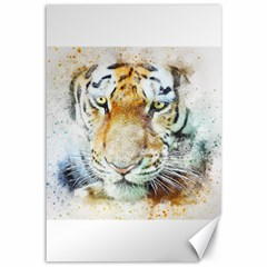 Tiger Animal Art Abstract Canvas 12  X 18