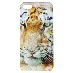 Tiger Animal Art Abstract Apple Iphone 5 Hardshell Case by Celenk