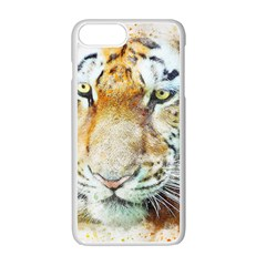 Tiger Animal Art Abstract Apple Iphone 7 Plus Seamless Case (white) by Celenk