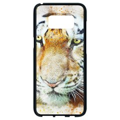 Tiger Animal Art Abstract Samsung Galaxy S8 Black Seamless Case by Celenk