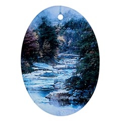 River Water Art Abstract Stones Ornament (oval) by Celenk