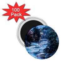 River Water Art Abstract Stones 1 75  Magnets (100 Pack)  by Celenk