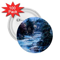 River Water Art Abstract Stones 2 25  Buttons (100 Pack)