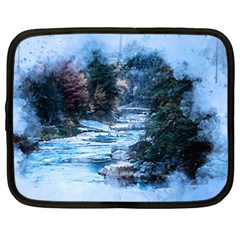 River Water Art Abstract Stones Netbook Case (xxl)