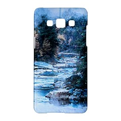 River Water Art Abstract Stones Samsung Galaxy A5 Hardshell Case  by Celenk