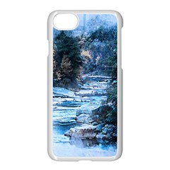 River Water Art Abstract Stones Apple Iphone 7 Seamless Case (white) by Celenk