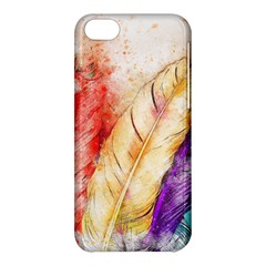Feathers Bird Animal Art Abstract Apple Iphone 5c Hardshell Case by Celenk