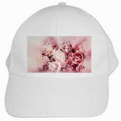 Flowers Bouquet Art Abstract White Cap