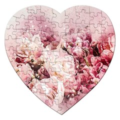 Flowers Bouquet Art Abstract Jigsaw Puzzle (heart) by Celenk