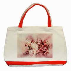 Flowers Bouquet Art Abstract Classic Tote Bag (red) by Celenk